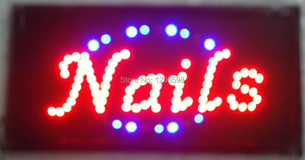 CHENXI Direct selling custom led sign 10x19 inch Semi outdoor Ultra Bright running nail store signboard