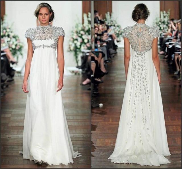 2016 Glamorous Spring New Designer Maternity Wedding Gowns High Neck ...