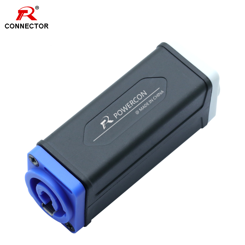 1pc PowerCon Extender Connector Blue-White Blue-BLue White-White Stage Lighting Chassis Socket Extension Aviation Connector