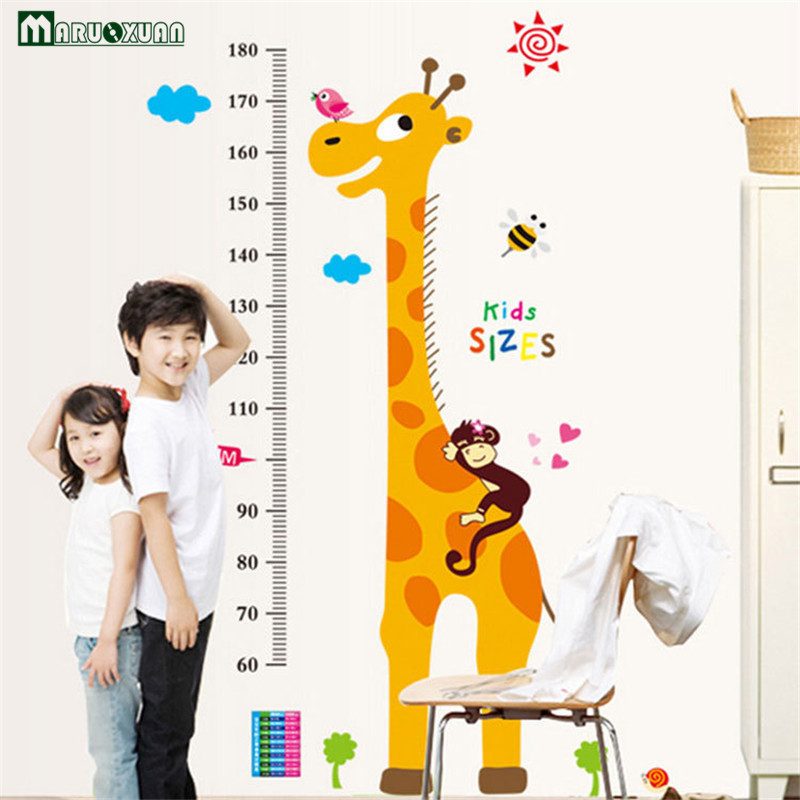 Giraffe height stickers childrens room decoration removable height stickers AY9092 09