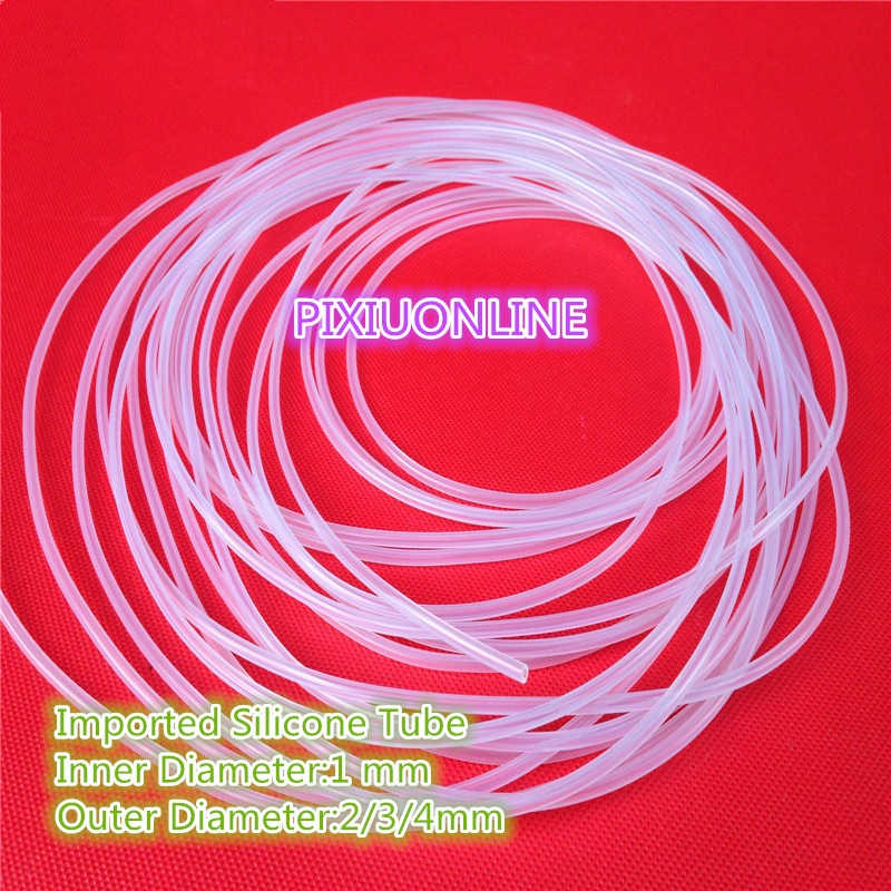 1PCS YT825 Imported Silicone Tube ID 1 mm* OD 2/3/4mm Plumbing Hoses 1Meter Food Grade Capillary Transparent Hose 100g bag etythrosine food grade usa imported