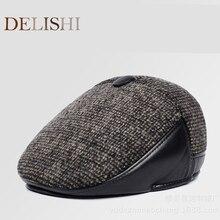 New fashion men's berets thick warmth ear berets autumn and winter berets dad cap