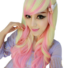 Women's Fashion Curly Wigs With Bangs Long Curly Hair Fluffy Curly Hair Cosplay
