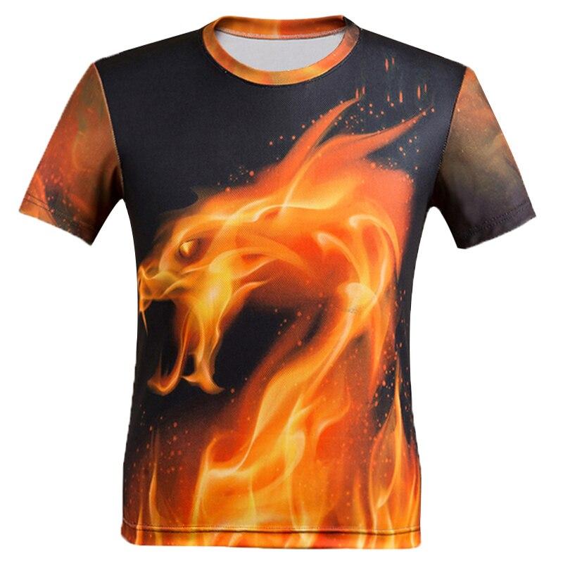 2019 BIAN YI LONG men fashion t-shirt Flame dragon  print Hipster funny t-shirt men Summer Casual street hip-hopT-shirt Man tops