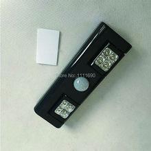 Portable LED Night Light Wireless Motion Sensor Stick-on bedroom baby room closet closets cabinet (Battery Operated) – black