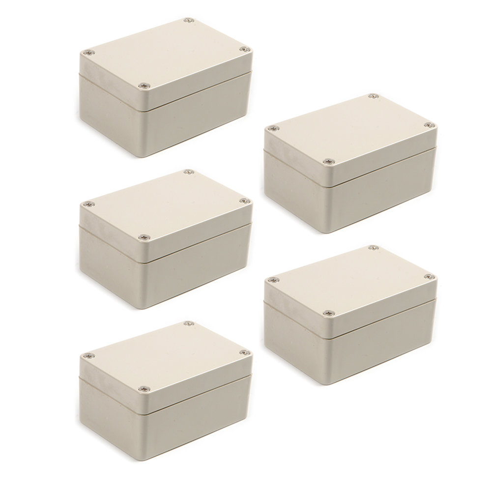 5pcs Waterproof Sealed Plastic Enclosure Electric Junction Box Case100x68x50mm surface mounted plastic sealed electric junction box case 230x126x80mm