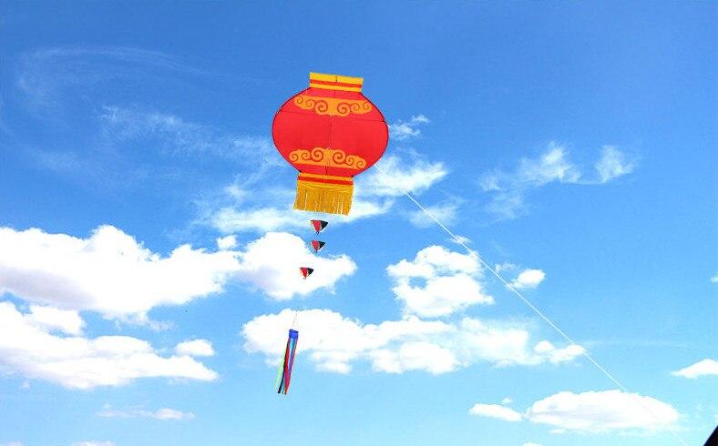 Nouveau cerf-volant lanterne rouge traditionnelle chinoise avec poignée et ligne - 2