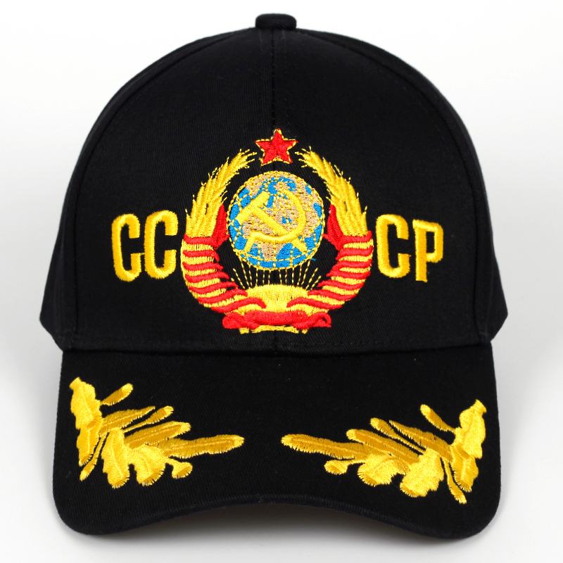 New CCCP USSR Baseball Cap Unisex Adjustable Cotton CCCP Embroidery Snapback Hat Fashion Caps Sports Hats Men Wholesale
