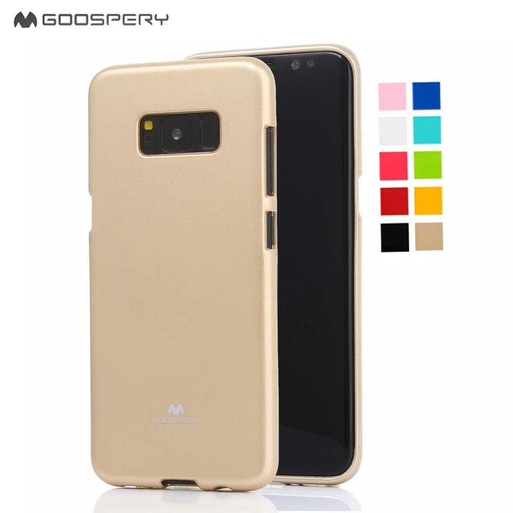 Mercury Goospery Soft Feeling Color Jelly Protect Slim Case For Samsung Galaxy Grand Prime J2 Pearl Black S8 Original S9 S8plus S4 S5 Mini S6 S7 S6edge