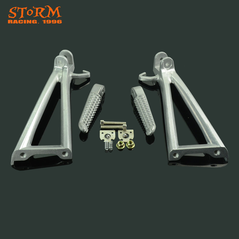 Rear Footpegs Foot Pegs Footrest Pedals Bracket Footrest For YAMAHA YZF R6 YZFR6 R 6 2006-2011 06 07 08 09 10 11 2006 Motorcycle