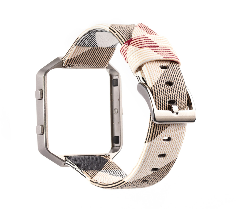 Women Fitbit Blaze Bands, Fashion leather Sport Replacement Strap with Frame for Fitbit Blaze Smart Fitness Watch 23mm superior nylon watch band wrist strap steel metal frame for fitbit blaze smart watch dec 12
