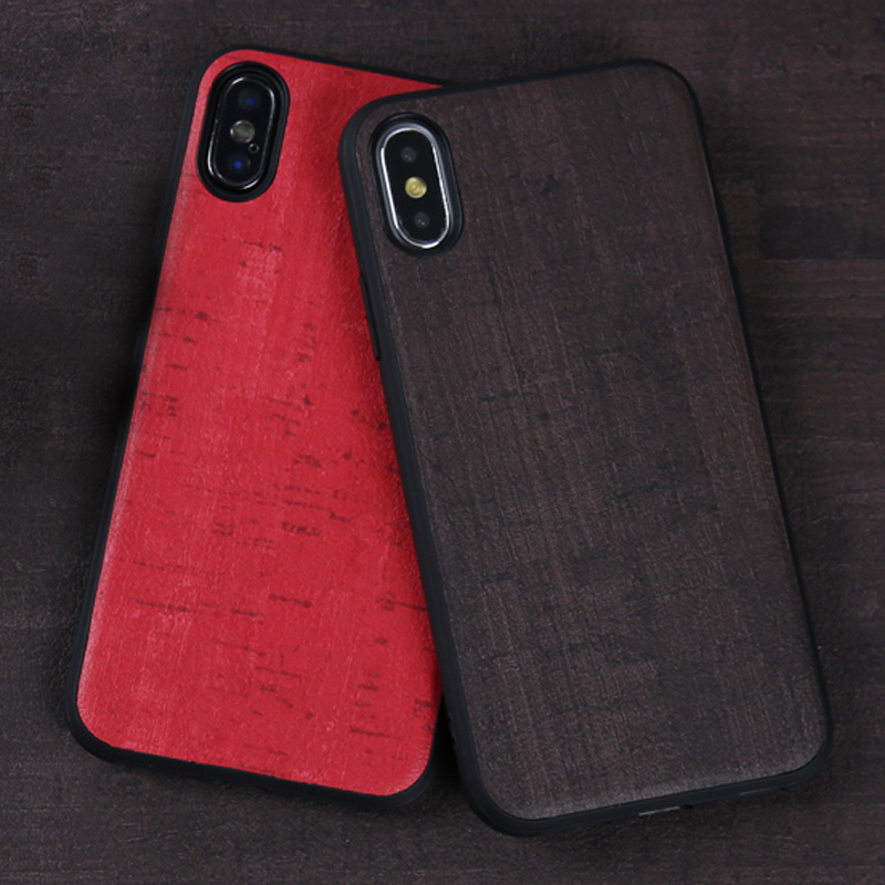 Phone Cases For iPhone X Xs Max Case Wood grain PU Leather Soft TPU Silicone Cover For iPhone 6 6S Plus 7 8 Plus 7p 8p Case
