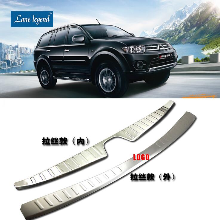 Auto parts Car-covers High quality stainless steel Rear bumper Protector Sill fit for Mitsubishi Pajero sport 2011-2014 stainless steel auto side door trim moulding auto accessories for mitsubishi pajero sport 2014