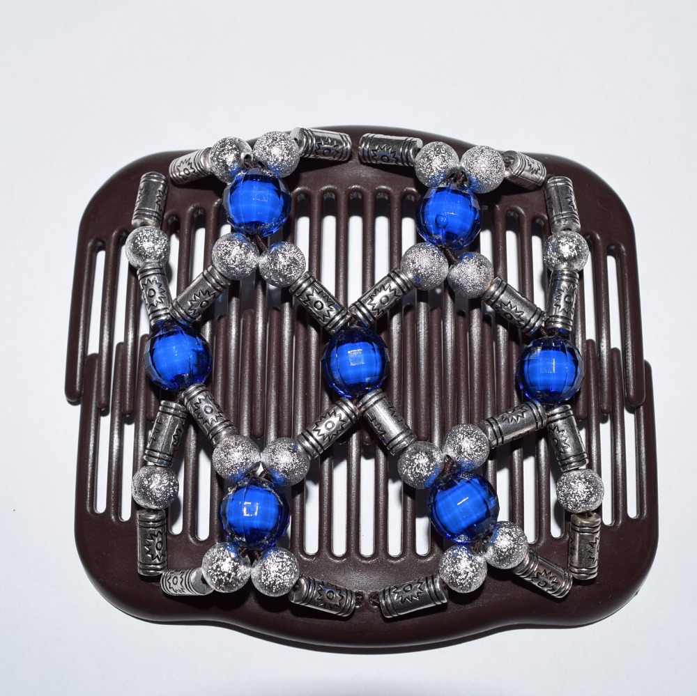 2018 20pcs/lot fashion silver and blue christmas colour beads beautiful luxury christmas magic comb