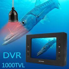 """Erchang 15 м кабель камера рыболокатор инфракрасный светодиодный 3,"""" монитор HD 1000TVL подводная камера для подледной рыбалки ночное видение DVR"""
