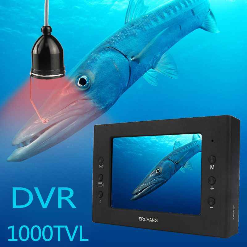 Erchang 15 M Kabel Camera Fishfinder Infrarood LED 3.5 ''Monitor HD 1000TVL Onderwater Camera Voor Ijsvissen Nachtzicht DVR