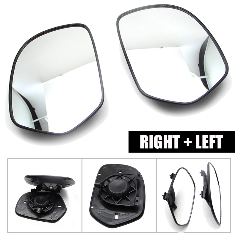 1 Pair Rear View Mirror Left & Right Replacement Black Motorcycle Rear Glass For Honda Goldwing GL1800 2001-2012