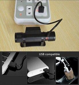 Image 4 - Mini lampe torche blanche avec chargeur USB et batterie phare LED, lampe frontale pour la chasse ou le Camping, 18650 lm