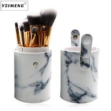10pcs Marble Patten Makeup Brush for Cosmetic Powder Foundation Eyeshadow Lip Make up Brushes Set Beauty Tool maquiagem