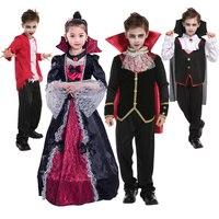 Carnival Party Halloween Kids Children Dracula Gothic Vampire Costume Fantasia Prince Vampire Cosplay For Boys Fantasia DN2407