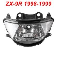 For 98-99 Kawasaki Ninja ZX9R ZX 9R Motorcycle Front Headlight Head Light Lamp Headlamp CLEAR 1998 1999