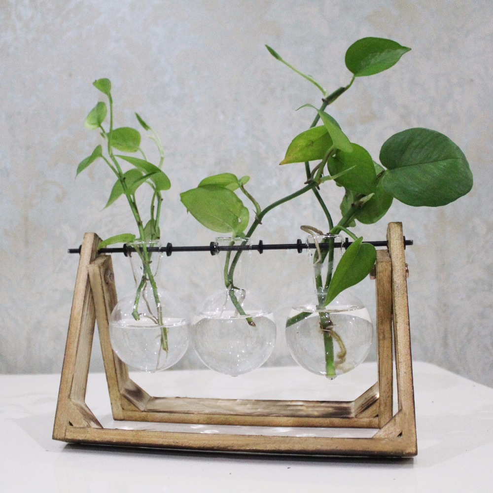 Vintage Style Glass Tabletop Plant Bonsai Flower Wedding