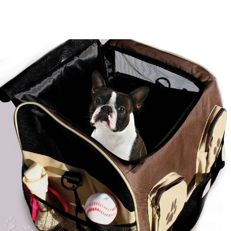 Légáteresztő autós kutya táska Kisállat hordozó kutya macska hordozó kölyök macska utazás hordtáska Tote autó ülés utazási kutya táska