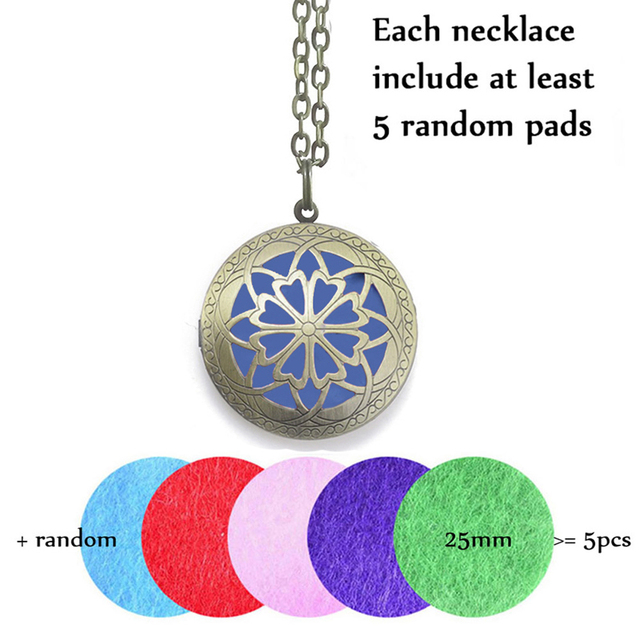Antique Aromatherapy Diffuser Locket (with 28′ Chain)