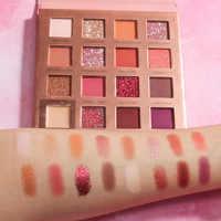 16 cores cereja brilho fosco sombra paleta sunrise highlighter shimmer pó à prova dwaterproof água paleta de sombra maquiagem