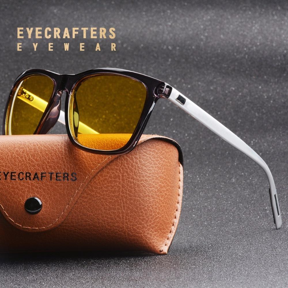 Retro Square Polarized Night Vision Goggles Driving Polarized Sunglasses Men's Car Driving UV400 Anti-glare Sunglasses Eyewear
