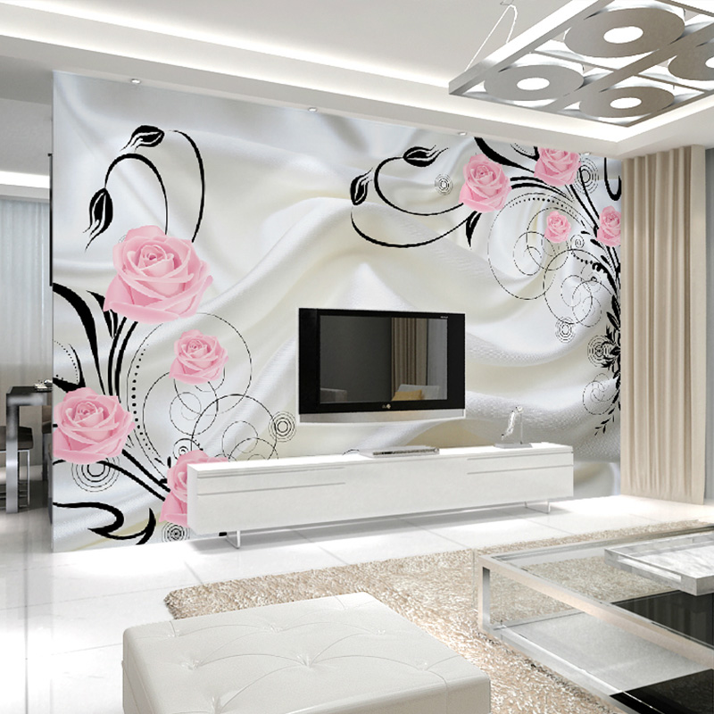 Beibehang Large Custom Wallpapers Rose Flowers 3d Stereo Living Room Bedroom Sofa Tv Background Wall Decorative Mural Reputation First Painting Supplies & Wall Treatments Wallpapers