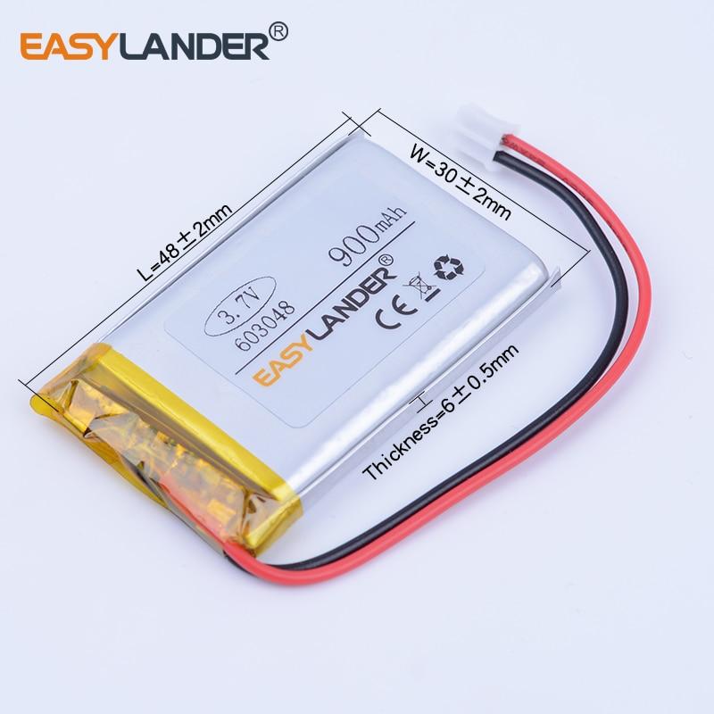 603048 3.7 В 900 мАч Перезаряжаемые литий-полимерная литий-ионная Батарея для игр Мышь MP3 MP4 GPS Оборудование для PSP DVR КПК LED лампе динамик 063048