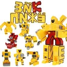 DIY Russian Alphabet Letter Transform Robot Model Deformation Robot  Creativity Puzzle Toy for Kids Boys Gift