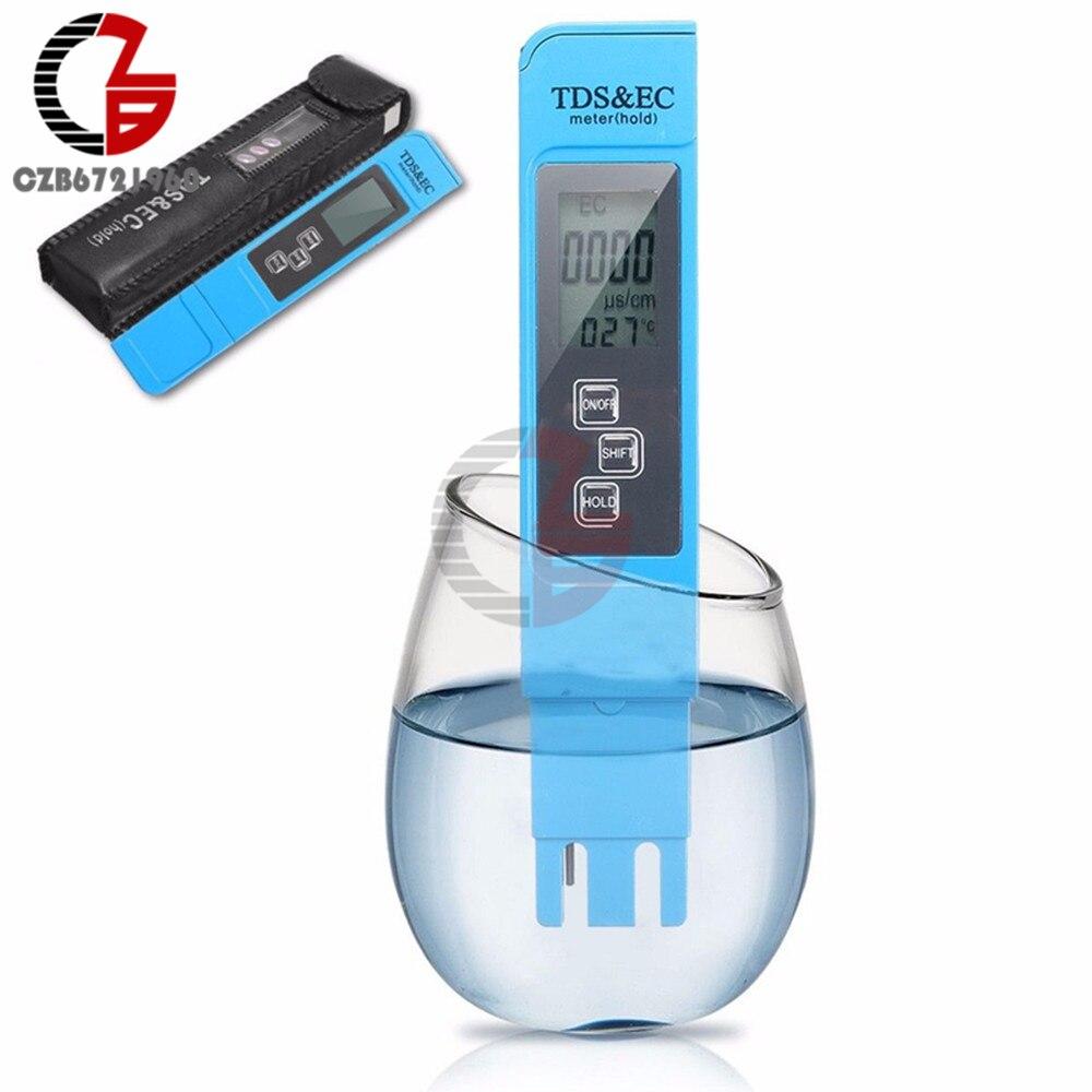 Billiger Preis Tds Ec Meter 3 In 1 Temperatur Meter Leitfähigkeit Wasser Qualität Tester Detektor Monitor Thermometer 0-9990ppm Für Haus Aquarium Gutes Renommee Auf Der Ganzen Welt
