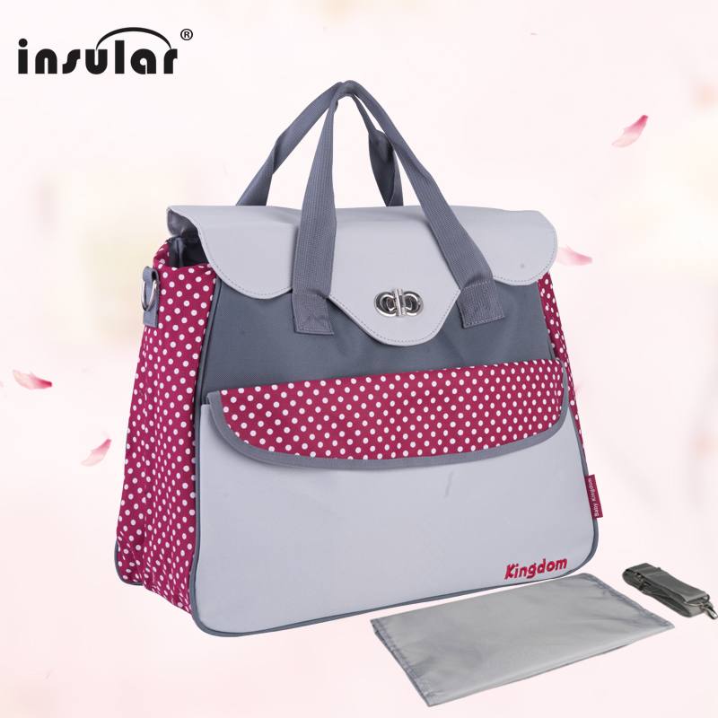 1 PC Woman Bags 2016 New shipping Free Multifunctional Baby Diaper Bag Waterproof 600D Nylon Mommy Bags Changing Bag