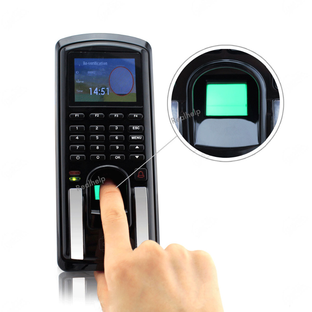 Lecteur de carte RFID d'empreintes digitales clavier rfid temps de verrouillage système de contrôle d'accès Terminal USB tcp/ip Scanner d'empreintes digitales rapide