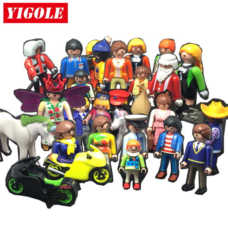 Playmobil Action Figures Set Toy Scenes City Life Animal Santa Claus Models Kids Toys Birthday Gift long cable winder cute cartoon animal headphone earphone organizer wire holder action toy figures set