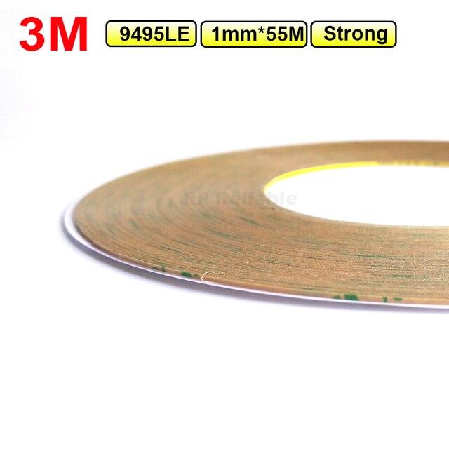 Súper Delgado (1mm de ancho), 3 M 300LSE fuerte claro doble cara cinta adhesiva para HTC Samsung pantalla táctil LCD pantalla marco