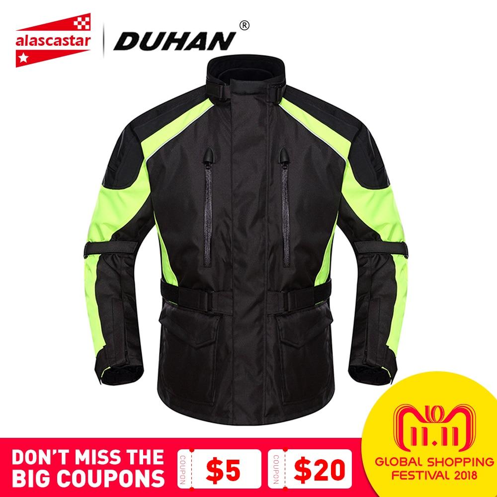 DUHAN Motorcycle Jacket Men Waterproof Moto Jacket Racing Rain Coat Clothing Touring Motorbike Jacket Riding Protective Gear цена