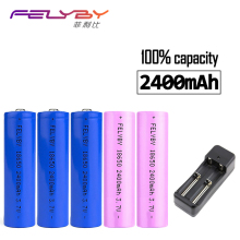 FELYBY 2-4pcs/lot Original 18650 Li-ion battery 2400mAh 18650  Li-ion 3.7v Battery Rechargeable battery 18650 rechargeable стоимость