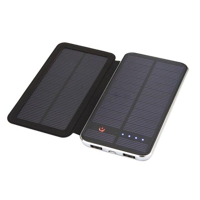 Умеренная цена 5 В двойной USB выход 10000 мАч батареи солнечное зарядное устройство для мобильных телефонов