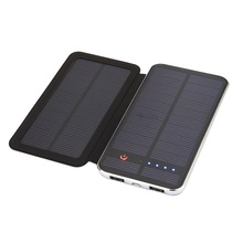 Reasonable price 5V double USB output 10000mAh battery solar charger for mobile phones