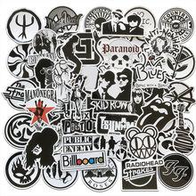 Aqk 50 шт/лот рок группы музыка черные белые наклейки панк крутые