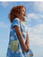 Nouveau 2017 Marque Qualité 100% Coton Bébé Filles Robe D'été Enfants Vêtements Enfants Vêtements Filles Casual Robes D'été Bébé Filles