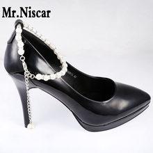 d2e57a99d47cad Mr.Niscar 1 Pair High Heels Fashion Pearl Beading Shoe Accessories for Women  Shoes Welding Zircon Buckle Shoes Decoration