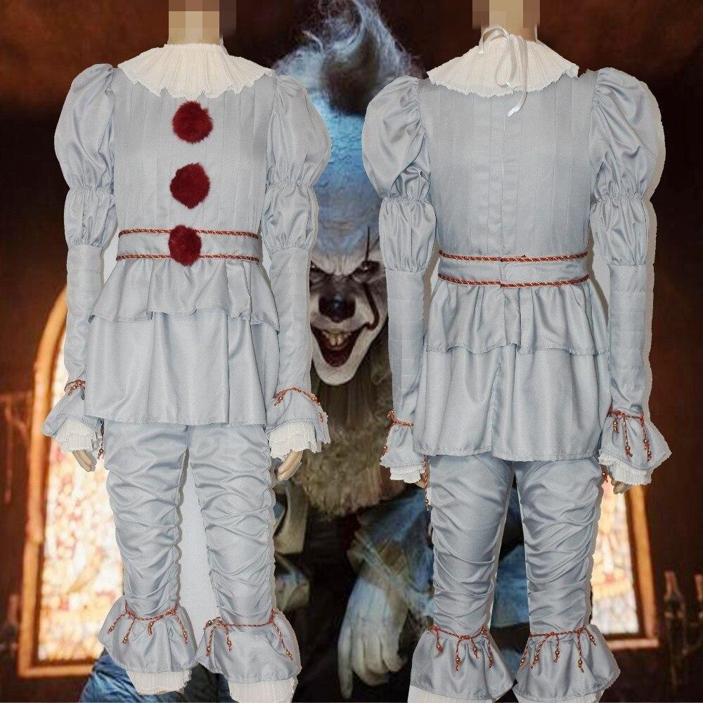 3pcs-Clown-Stephen-King-s-It-Cosplay-Costume-Pennywise-Costume-Adult-Men-Women-Costume-Fancy-Halloween(6)
