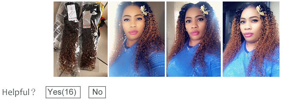 HTB1FENlaYr1gK0jSZFDq6z9yVXa9 Ombre SPARK Brazilian Human Hair Weave Bundles With Closure Afro Kinky Curly Hair With Closure Medium Ratio Remy Human Hair