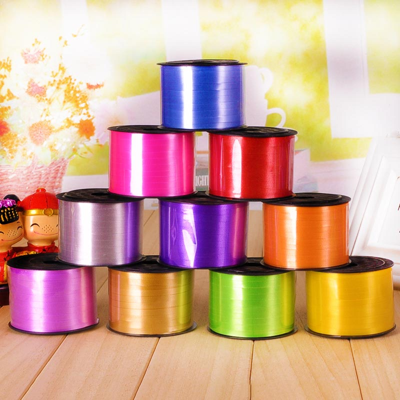 <font><b>1</b></font> Roll Foil Balloon Ribbon Balloon Strings 5MM X 100 Yards Gifts Packing Crafts Foil Curling Ribbon Rope DIY Wedding Decor image