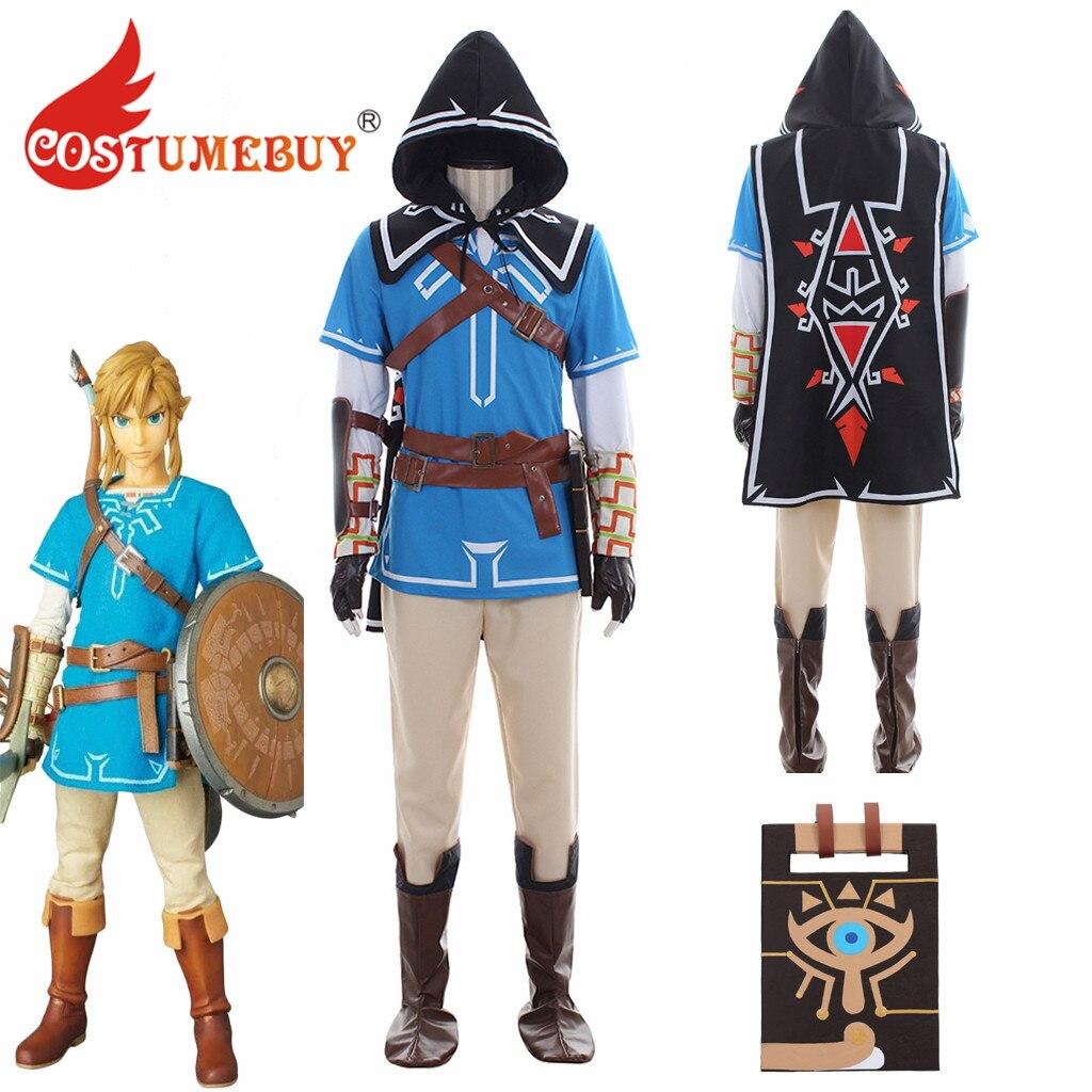 CostumeBuy Game he Legend of Zelda Breath of the Wild Link Costume Adult Halloween Unisex Carnival