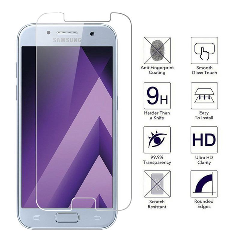 A5 2017 Screen Protector For <font><b>Samsung</b></font> Galaxy A5 2017 Tempered <font><b>Glass</b></font> For <font><b>Samsung</b></font> SM-A520F <font><b>A520</b></font> <font><b>Glass</b></font> Cover Protective Case Film image